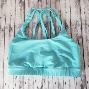 Lululemon Sports Bra Energy 4 Teal Blue
